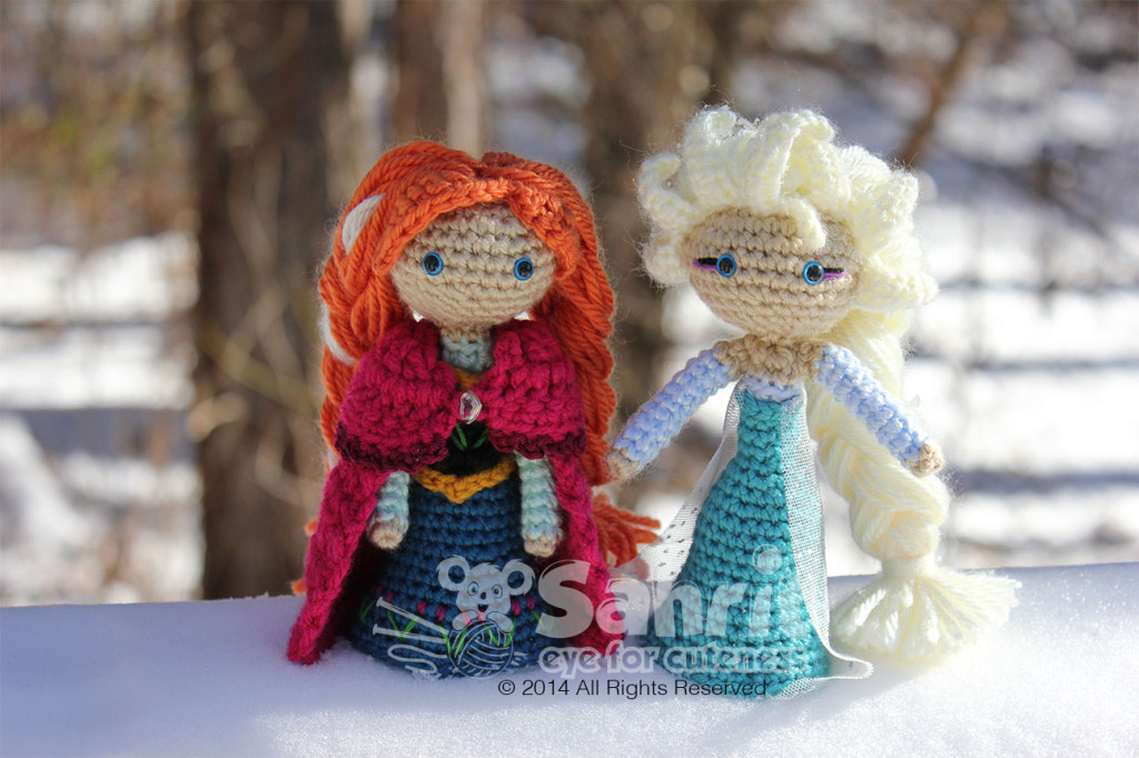 Crochet Elsa Doll Pattern : Anna Frozen Amigurumi Doll Pattern by Sahrit Sahrit in ...